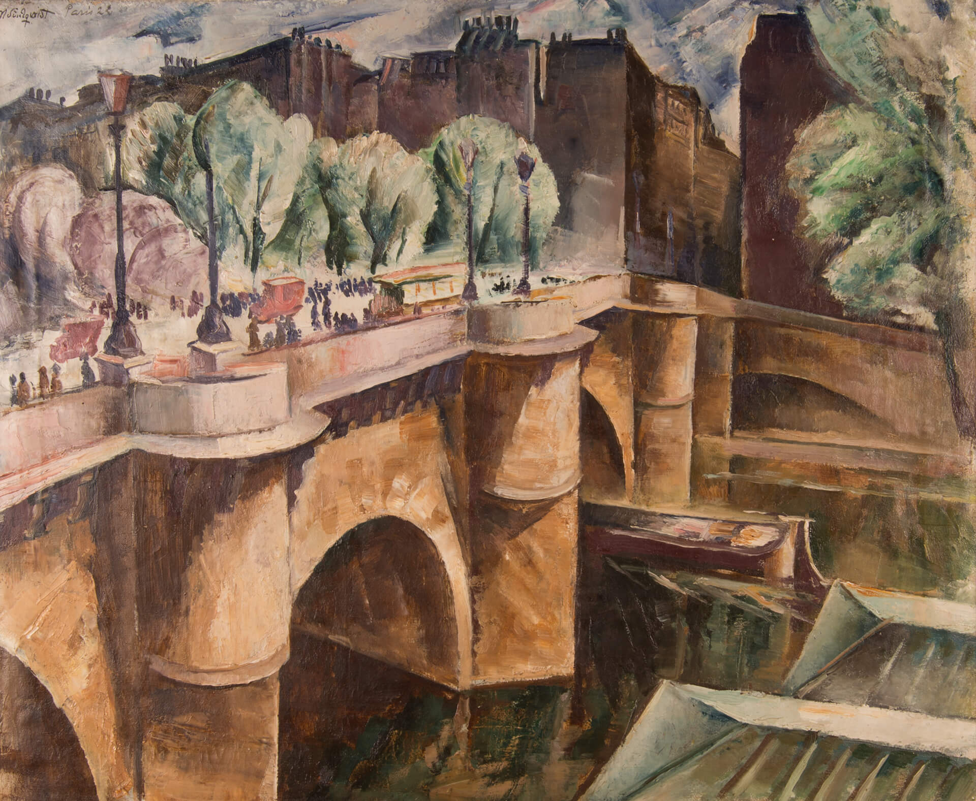 C M Lindqvists målning Pont Neuf, Paris